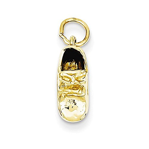 Jewelry Adviser Charms 14k Single Baby Shoe Charm