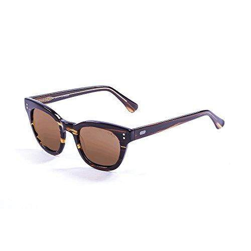 Ocean Sunglasses Santa Cruz Lunettes de Soleil Mixte Adulte, Dark Brown Transparent/Brown Lens