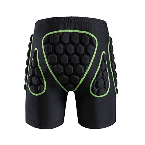 Mens Womens Protective Hip Butt Pad Outdoor Sports Snowboard Skating Skiing Compression Drop Resistance Padded Shorts Pants Basecamp Padded Impact Protective Shorts