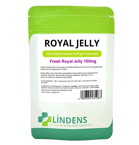 Fresh Organic Pure Royal Jelly 150mg 3-PACK 300 Capsules w/ Honey and Beeswax