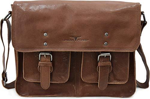 Urban Forest Jay Leather 8 Ltrs Brown Messenger Bag