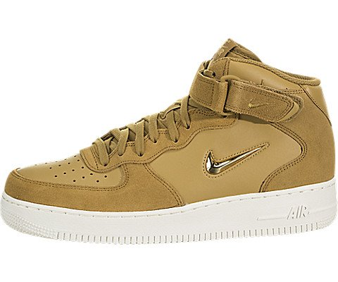 Nike Mens Air Force 1 Mid '07 LV8 Muted Bronze/Metallic Gold (11 (M) US) (Nike Air Force One Purple And Gold)