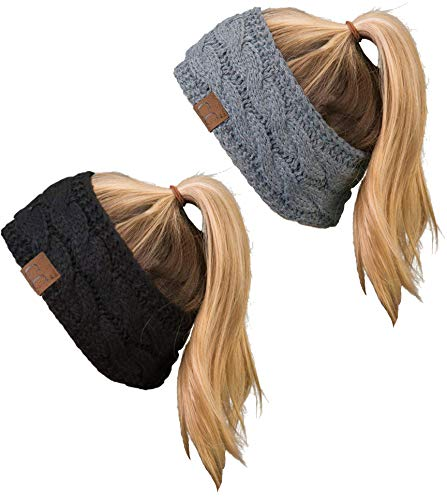 6149494ce2b Jual Funky Junque C.C Cable Knit Fuzzy Lined Head Wrap Headband Ear ...