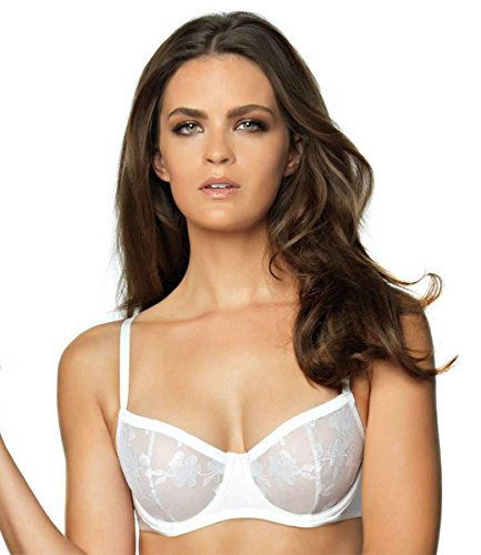 - Felina Women's Sabrina Demi Unlined Bra, White, 38D