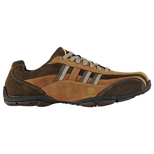 Kangol Mens Poipu Shoes Casual Lace Up Padded Ankle Collar Textured Tan UK 11 - Kangol Uk