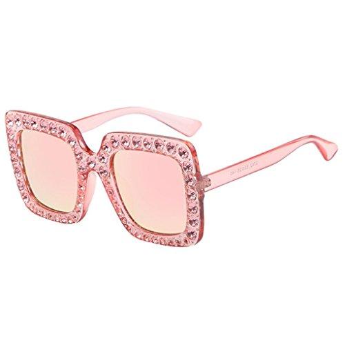 Nibito Womens Fashion Artificial Diamond Cat Ear Quadrate Metal Frame Brand Classic Sunglasses - Sunglasses Lacrosse Spy