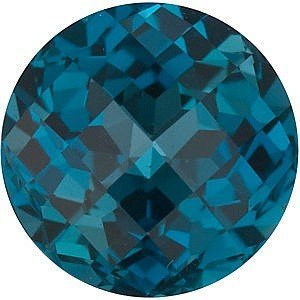 Round Shape Checkerboard London Blue Topaz Gemstone Grade AAA, 8.00 mm in Size, 2.5 (Carats Round Checkerboard Shape)