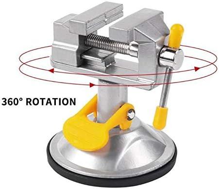 ベンチ万力固定フレーム吸盤クランプ調整可能なテーブル万力ローテータブル合金ベンチスクリュー用diyクラフト金型固定修復ツール