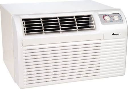 Amana AE093G35AX Window Air Conditioner with 9500 BTU Cool 10700 BTU Electric Heat Electronic Controls with LED Display Hand Held IR Remote Control Wall Sleeve and Window Mount Kit in