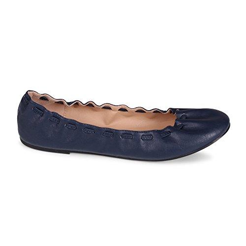 Se Busca Genesis Scrunch Lacing Fashion Flat Navy