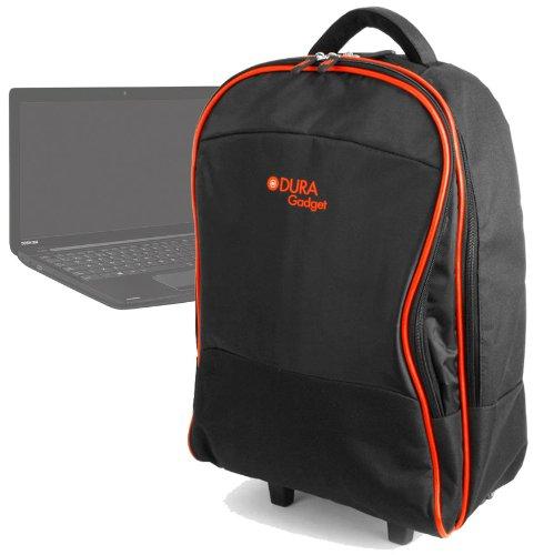 DURAGADGET Lightweight Laptop Trolley Bag With Heavy-Duty Telescopic Handle Suitable For Toshiba Satellite C55-100 15.6-inch Notebook (Intel Pentium 2020M 2.4GHz Processor, 8GB RAM, 1TB HDD, Windows 8)
