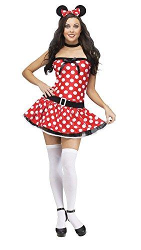 Fun World Costumes Women's Mousie Adult Costume, Red/White, Small/Medium ()