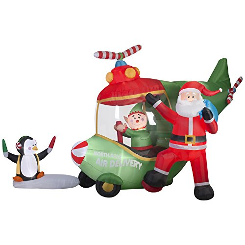 18.5 Ft. Animated Airblown Santa and Elf - Animated Airblown Santas Shopping Results
