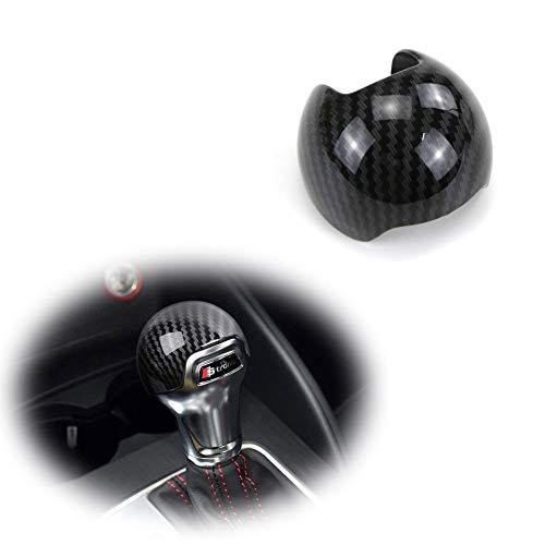 GTINTHEBOX Carbon Fiber Pattern ABS Gear Shift Knob Cover Sticker Trim Decoration For 2014 2015 2016 2017 2018 Audi A3 S3