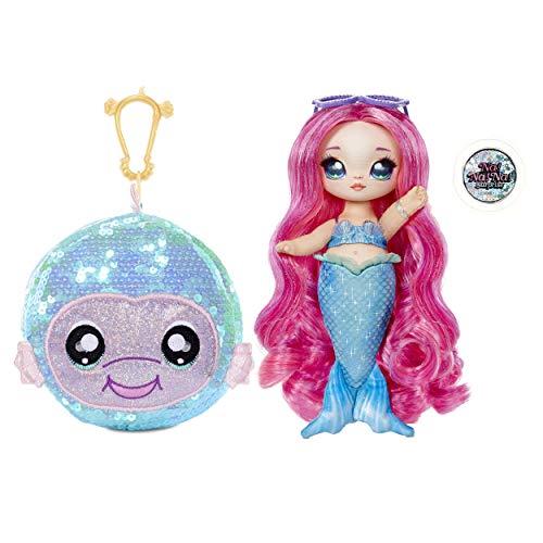 Na Na Na Surprise Muñeca de moda 2 en 1 MARINA JEWELS – Bolso con pompón – Muñeca sirenita con ropa y accesorios. Serie…