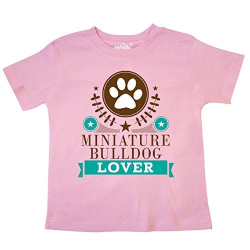 inktastic Miniature Bulldog Lover Toddler T-Shirt 2T Pink