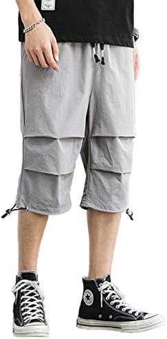 ミディアムパンツ メンズ 7分丈 ショートパンツ ハーフパンツゆったり カジュアル ワイドパンツ 夏 無地
