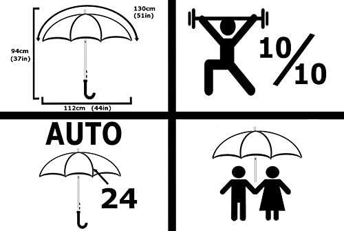 Parapluie Pliable Noir COLLAR AND CUFFS LONDON Mini Parapluie Rare avec Ouverture ET Fermeture AUTOMATIQUES 20 cm Ferm/é Conception HAUTEMENT Technique Robuste