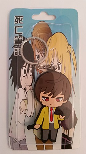 [Death Note Kira Yagami Light PVC Keychain] (L Costume Death Note)