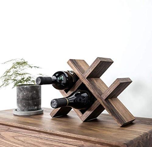 DXX-HR ZCJBワインは、ワインラックハンギングアイアンアートシンプルなボトルワインラックボトルワインホルダーウォールラック