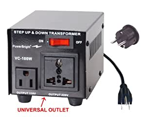 Power Bright VC100W Voltage Transformer 100 Watt Step Up/Down 110 Volt - 220 Volt