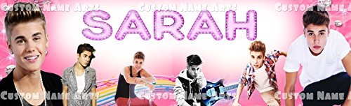 (Personalized Justin Bieber Banner Birthday Poster Custom Name Painting Wall Art)
