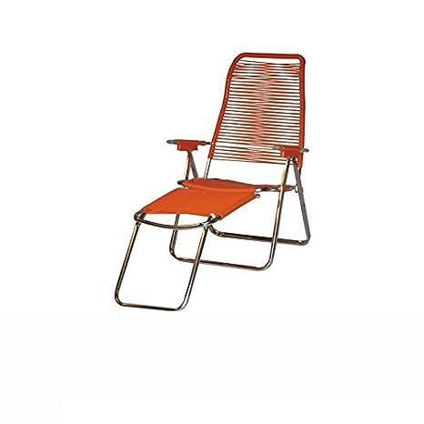 Sedia A Sdraio Cordonata.Sdraio Cordonata A Mano Verniciata Arancione 640 Amazon