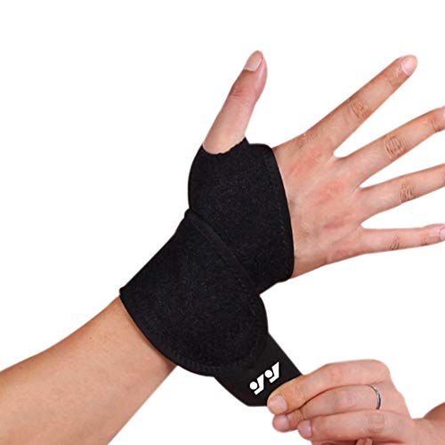 Wrist Brace for Ganglion Cyst, Arthritis, Carpal Tunnel, Breathable Sport/Fitness Wrist Support, for Left and Right Hand…