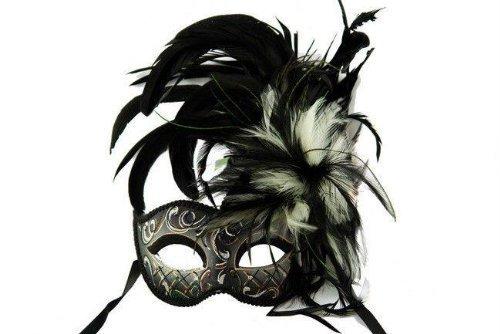 Venet (Black Beauty Feather Mask)