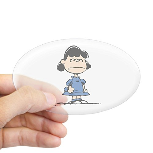 Peanuts Lucy Van - CafePress Lucy Van Pelt Oval Bumper Sticker, Euro Oval Car Decal