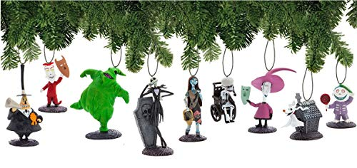 Disney Nightmare Before Christmas Ornament Set Deluxe Holiday Decorations]()