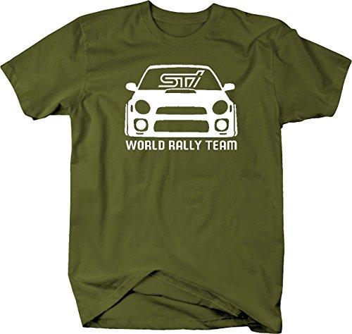 Subaru STI WRX World Rally Team Racing Bug Eye Tuning Mens T Shirt - Large (Chevy Racing Team)