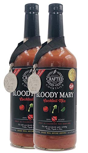 Crafted Cocktails - Gold Medal Winning, All-Natural Bloody Mary Mix - 2 Pack - Tomato, Horseradish, Worcestershire and other spices combine for great taste and only 45 calories per serving