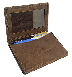 """3d54c272ccaf Image Unavailable. Image not available for. Color: MW580BR 3"""" x  4"""" Mens Leather Credit Card Holder Brown Wallet"""