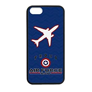 Canting_Good Blue case Proud Air Force Custom Case for iPhone 5,5S TPU (Laser Technology)