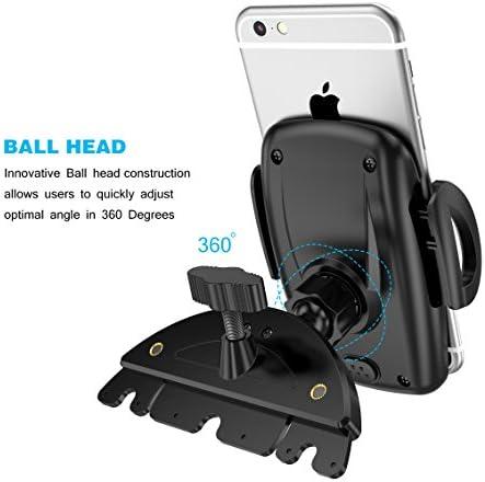 Soporte Coche de teléfono para Ranura de CD (Soporte y Montaje de CD) ABS stent de silicona plástica Rotación de 360 grados para GPS, iPhone, Samsung, LG, HTC: Amazon.es: Electrónica