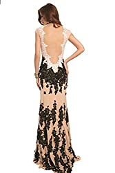 Women's Semi Open Front Rhinestone Beaded Dress