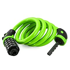 This is a resettable combination lock, you can reset the combination as often as you like. Good performance cable: Strong inner core protection safer and better anti-theft effect, PVC coating helps prevents our bicycle lock from scratching yo...