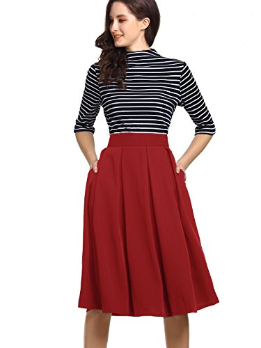 Beluring Skirts For Women Midi Length Casual Fashion 2017