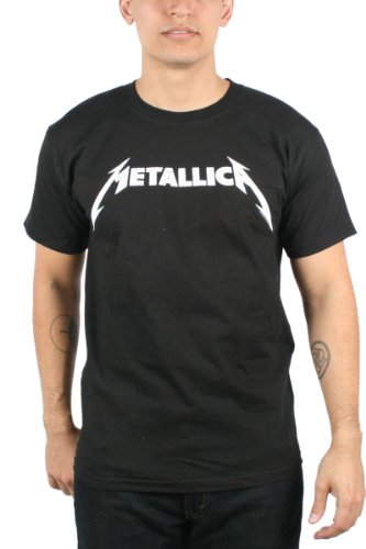 Metallica Men's Black & White Logo T-Shirt - S to XXL