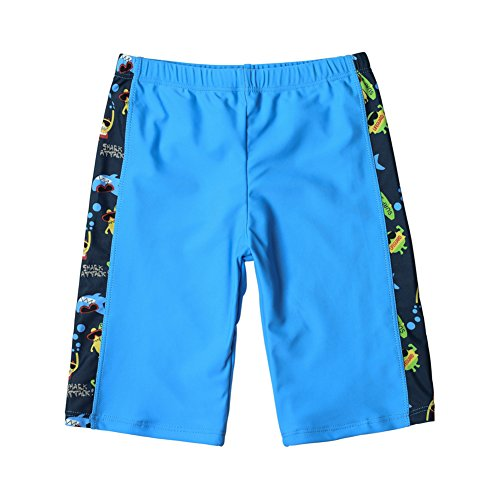 Compression Jammer - Duoxibeier Little Boys Swim Trunks Compression Jammer Kids Surfing Swim Shorts Quick Dry Swimsuit 8-10 Years Camouflage Blue