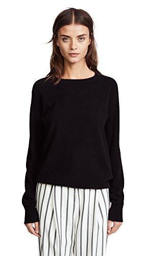 Equipment Women's Sandwashed Crepe De Chine Silk Slim Signature Blouse Sweater, Black, Small