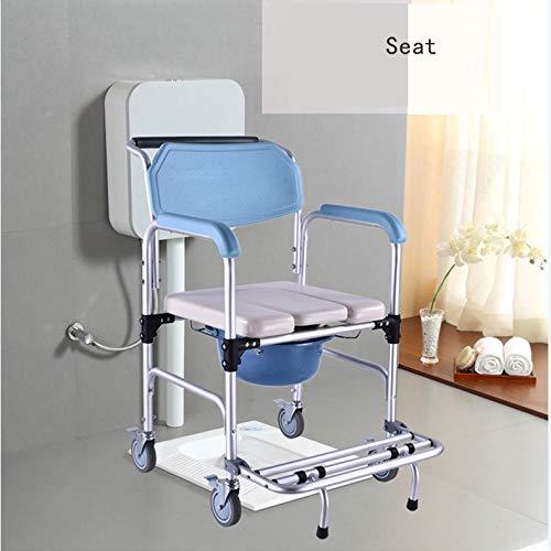rutschfeste Klappverst/ärkung auf R/ädern Mobile Toilette f/ür Toilettenst/ühle Badstuhl Toilettensitz /ältere Schwangere Frauen mit Behinderungen