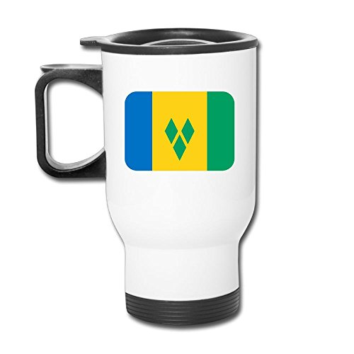 Grenadines Mug (HUOPR5Q St-vincent-and-the-grenadines Gifts Printed Coffee Tea Mugs Stainless Steel Travel Car Cup With Handle For Men Women Office Work Adult)