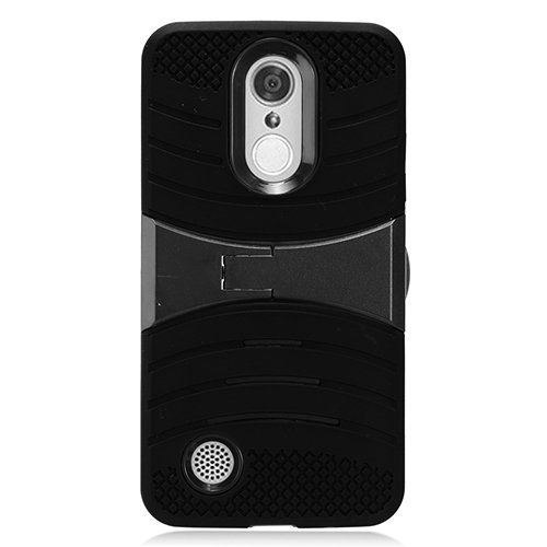 differently 698e3 248a8 LG Rebel 3 Protective Case, Phone Case for Tracfone LG Rebel 3 Prepaid  Smartphone, Heavy Duty Hard Armor Cover Case Kickstand (Black-Black)