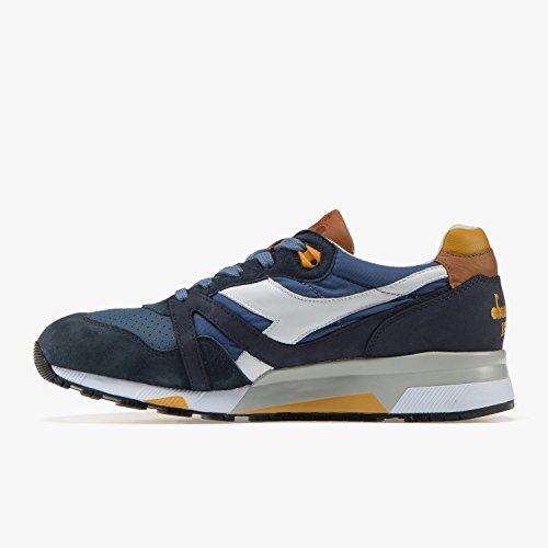 Diadora Heritage Sneakers Uomo, N9000 H ITA 172782/C7427, h ITA Made in Italy, Colore Blu Giallo, Nuova Collezione Primavera Estate 2018