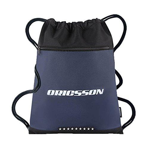 ORICSSON 16L Gym Sack Bag Drawstring Backpack for Unisex Sackpack Dark Blue
