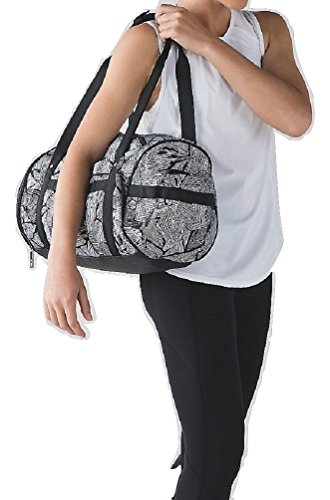 Lululemon Run Ways Duffel (Dottie Tribe White Black) by Lululemon
