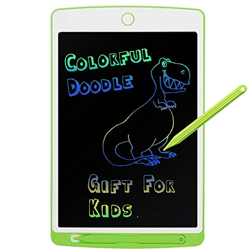 Parallel Halo LCD Drawing Board, 9.7 Drawing Area Colorful Drawing Doodle Board for Kid Learning (Green)
