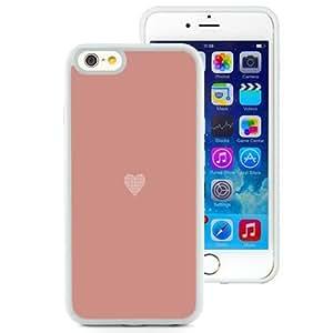 NEW Unique Custom Designed iPhone 6 4.7 Inch TPU Phone Case With Simple Flat Heart Illustration Valentines_White Phone Case wangjiang maoyi